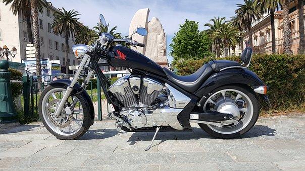 Honda, Motorcycle, Chopper, Show Bike, Moped, Corsica