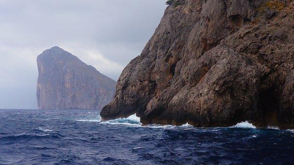 Sea, Rock, Ocean, The Cliffs, The Coast, Nature