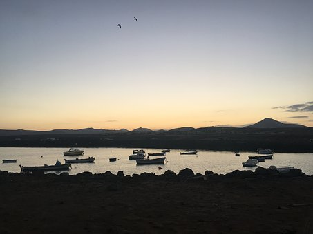 Fuerteventura, Rest, Sunset, Boat, Calm, Water