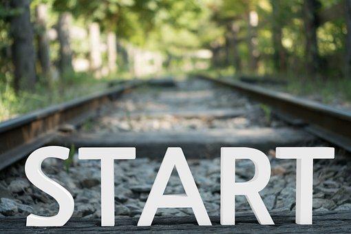 Rail, Railroad, Road, Train, Railway, Start, Begin