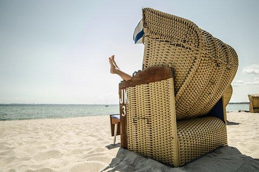 Beach Chair, Recovery, Sea, Holiday, Beach, Relax