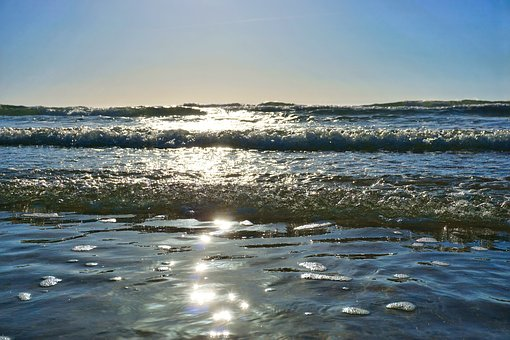 Wave, Reflection, Sea, Light, Summer, Ocean, Holiday