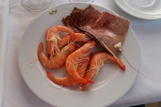 Tapas, Shrimp, Roast Beef, Eat, Andalusia, Spain, Food