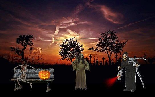 Halloween, Müstisch, Creepy, Ghosts, Spooky, Ghost