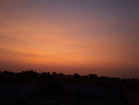 Evening, Dark, Sun Sets