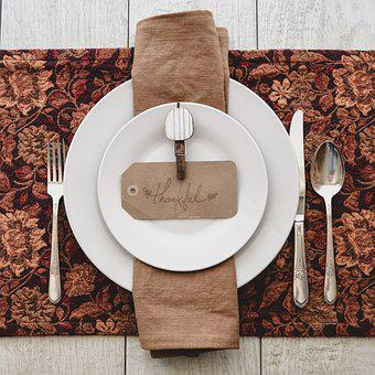 Thankful, From Above, Table Setting, Place Setting