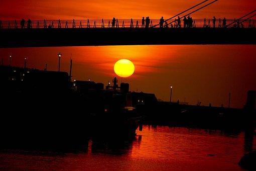 Sunset, Taipei, Taiwan, Travel, Red, Nature, China