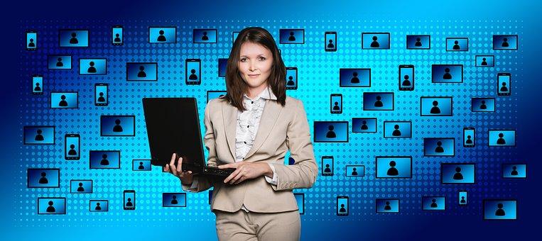 Block Chain, Businesswoman, Woman, Female, Person