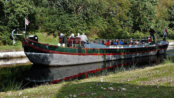 Ship, History, Channel, Veenpark, Nature, Boating