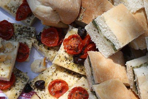 Focaccia, Sun Dried Tomatoes, Herbs, Breadbasket