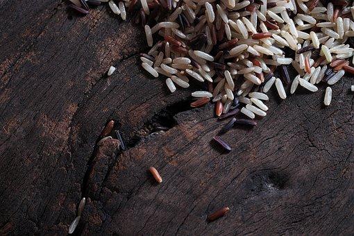 Rice, Brown, Ruby, Organic, Black, Jasmine, Grain