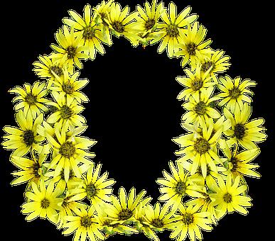 Daisies, Yellow Design, Frame