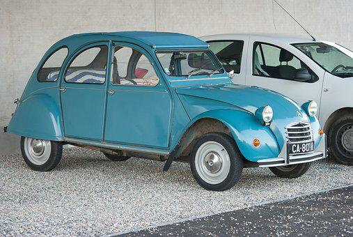 Car, Former, Citroën, 2cv, Collection, Old Car