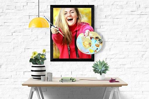 Artists, Drawing, Girl, Paint, Color Palette, Autumn