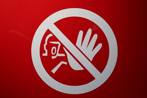 Shield, Ban, Stop, Containing, Warning, Note, Road Sign