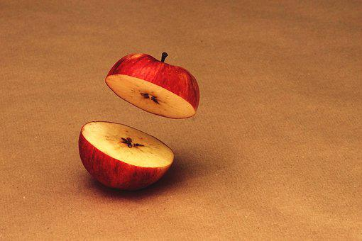 Cut, Apple, Red, Red Apple, Delicious, Ripe, Decoration