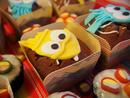 Muffins, Colorful, Delicious, Children