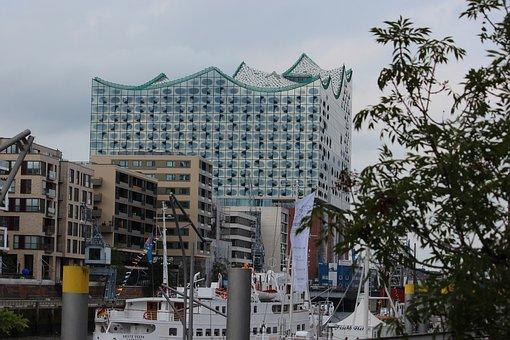 Hamburg, Port, Elbe, Architecture, Port Of Hamburg