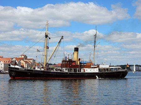 Steamboat, Harbour Festival, Nostalgia, Flensburg