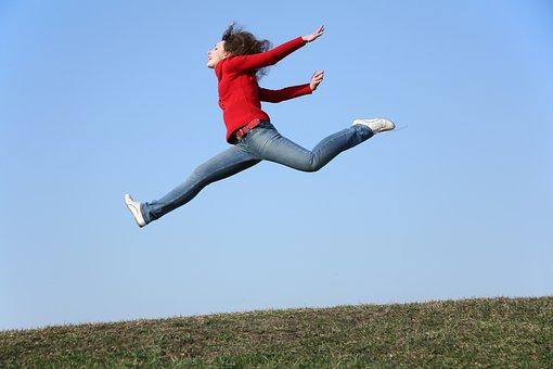 Woman, Jump, Freedom