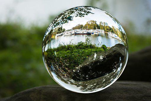 Port, Ships, Glass Ball, Photo Sphere, Docks, Boats