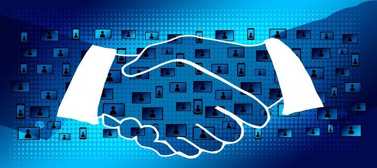 Block Chain, Handshake, Shaking Hands, Contract, Data