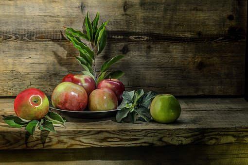 Apple, Red, Green, Fruit, Healthy, Food, Autumn