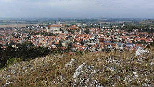 Mikulov, Moravia, Castle, Old Town, Historical Landmark