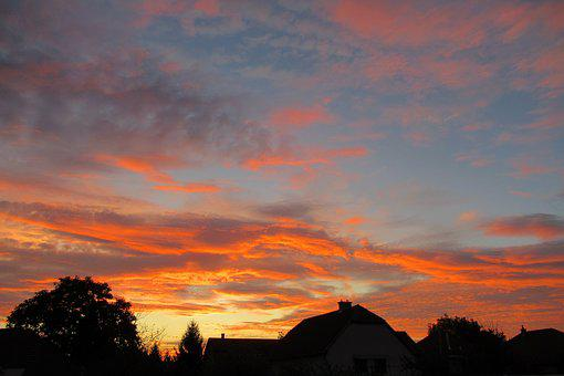 Sunrise, In The Morning, Sky, Color