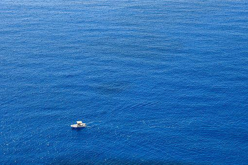 Sea, Blue, Infinity Blue, Ocean, Nature, Boat
