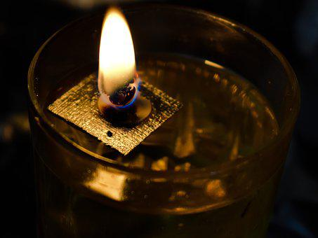 Flame, Oil Candle, Wick, Oil, Church, Religion, Light