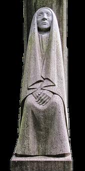 Sculpture, Memorial, Mourning, Pietà, Grieving, Woman