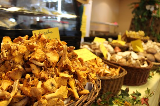 Mushrooms, Chanterelles, Food, Edible, Yellow, Mushroom