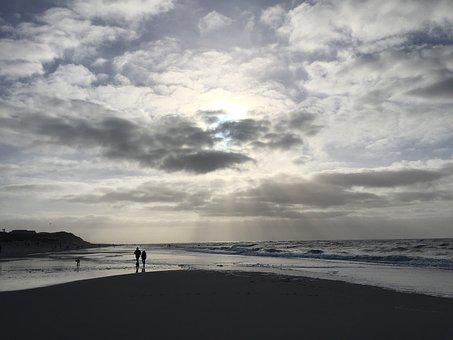 Sylt, Back Light, Winter, Sun, Nature, Landscape, Coast