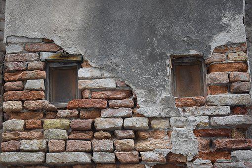 Window, Old, Old Window, Weathered, Hauswand, Break Up