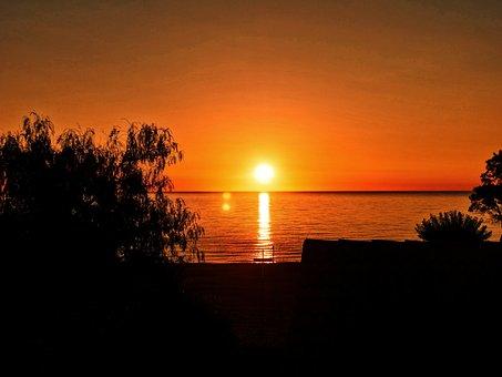 Sun, Orange, Contrast, Sunset, Orange Sky, Evening Sky