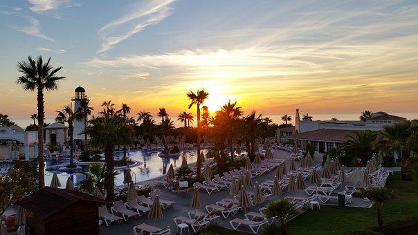 Sunset, Riu Chiclana, Andalusia, Jerez, Romantic