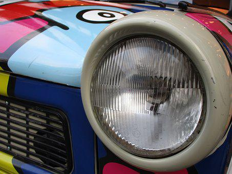 Spotlight, Satellite, Auto, Oldtimer, Trabi, Ddr