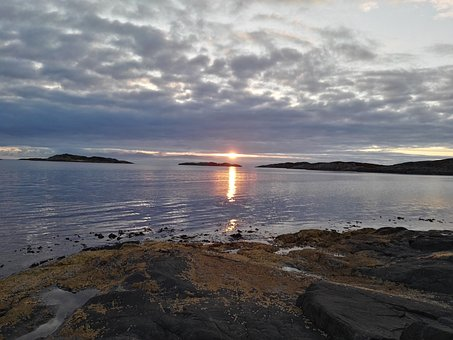 The North Sea, Norway, Sea, Water, Saltwater, Sun