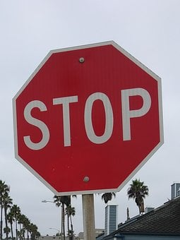 Stop, Sign, Red, Symbol, Warning, Road, Traffic