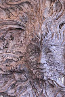 Tree Spirit, Wood, Figure, Art, Carvings, Arts Crafts