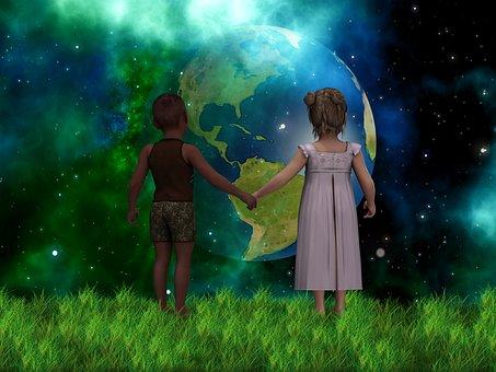 Children, Forward, Skin Color, Understanding, Universe