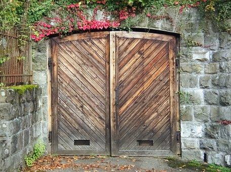 Goal, Garage Door, Door, Gateway, Wooden Gate, Garage