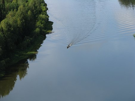 The Vishera River, Smooth Surface, Height, Calm