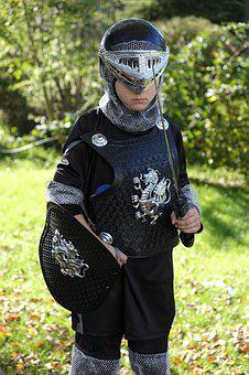 Knight, Ritterruestung, Armor, Child, Play, Protection