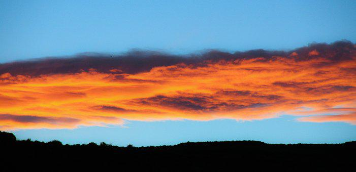 Sunset, Sky, Nature, Red Clouds, Clouds, Cloudy, Summer