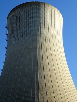 Cooling Tower, Nuclear Power, Power Plant