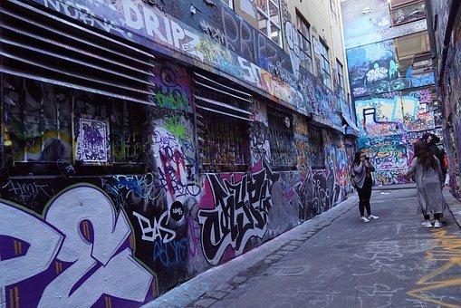 Photography, Hosier Lane, Street Art, Creativity