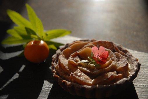 Apple Tart, Tart, Dessert, Apple, Pie, Baked, Crust