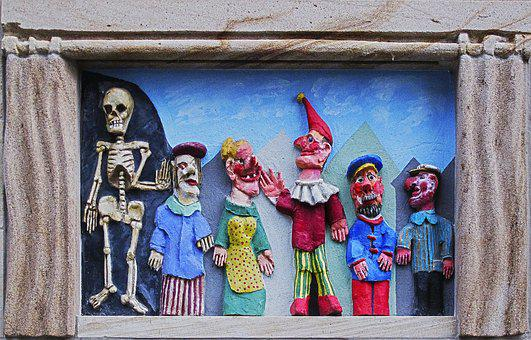 Stone Relief, A Punch And Judy Show, Punch, Death